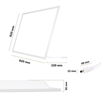 LED Paneel 62x62 cm 36 Watt 4500lm (125lm/W) High Lumen 4000K UGR<19 Flikkervrij 5 jaar garantie EIA Subsidie geschikt