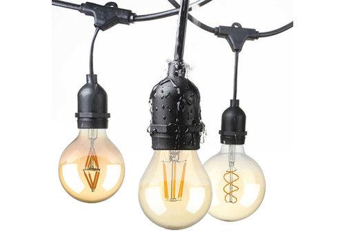 HOFTRONIC™ 15m LED Prikkabel - String Light - 15 E27 Fittingen - IP65 Lichtsnoer buiten