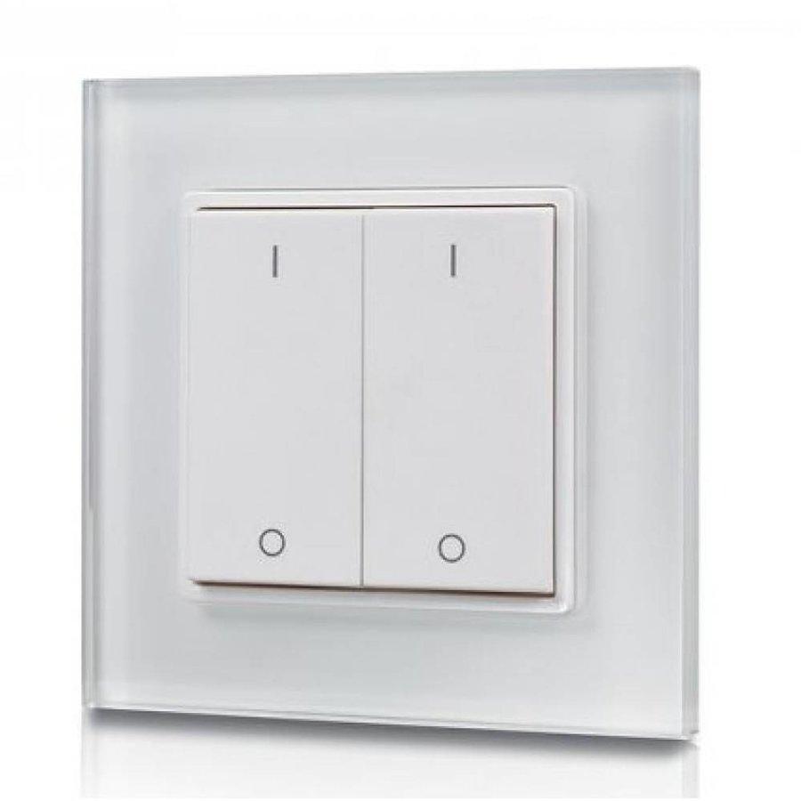 2-kanaals draadloze LED muur dimmer inclusief ontvanger maximaal 400 Watt
