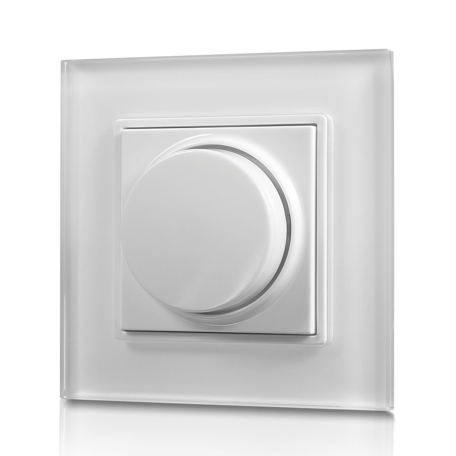 Draadloze LED muur dimmer met draaiknop inclusief ontvanger maximaal 100W