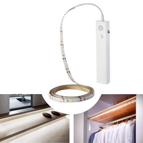V-TAC LED Strip 1 meter 2.4 Watt 2700K op batterij met bewegingssensor geschikt als trapverlichting