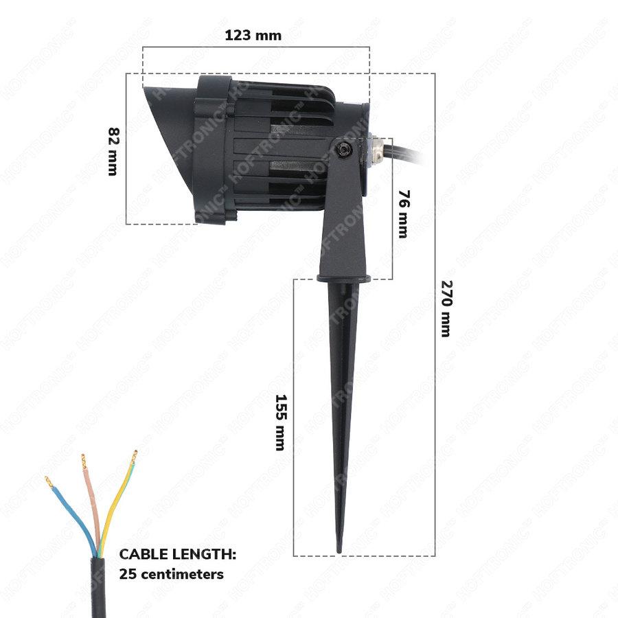 LED Prikspot Lenzo Cap 10 Watt 3000K IP65 waterdicht zwart