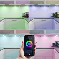 3x Smart LED inbouwspots Napels RVS 8 Watt RGBWW IP65 kantelbaar