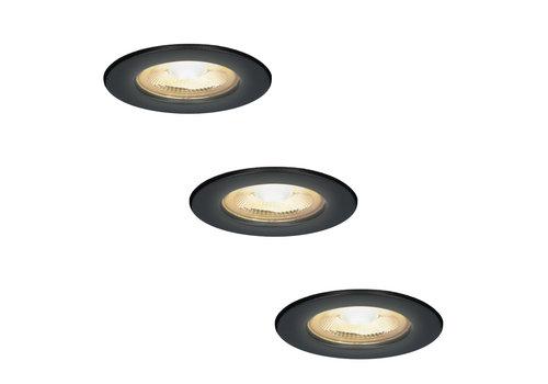 HOFTRONIC™ 3x Nola LED inbouwspot zwart IP65 5W 2700K warm wit dimbaar 5 jaar garantie