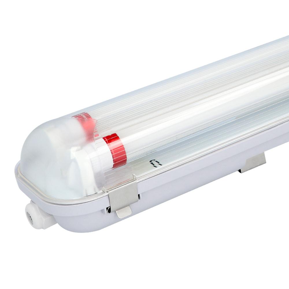 10x LED T8 TL armatuur IP65 120 cm 6000K 18W 6300lm 175lm/W incl. flikkervrije LED buizen koppelbaar