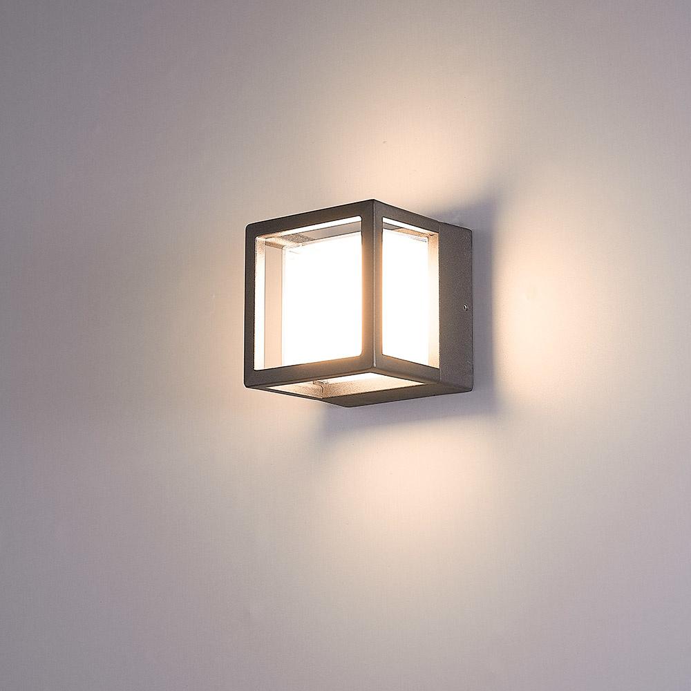 LED Wandlamp Pia zwart 6 Watt 3000K IP54