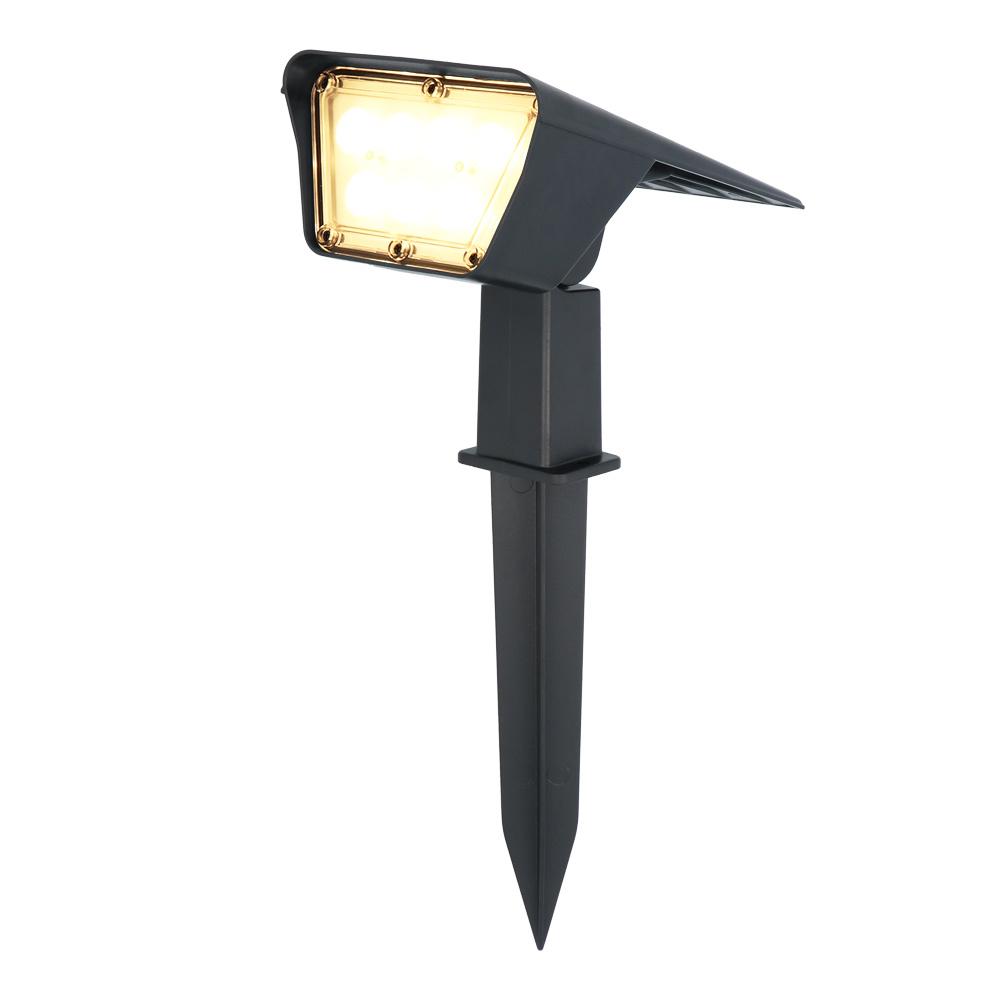 Odessa LED Solar Tuinspot 3000K warm wit IP65 Spatwaterdicht Prikspot Grondspot