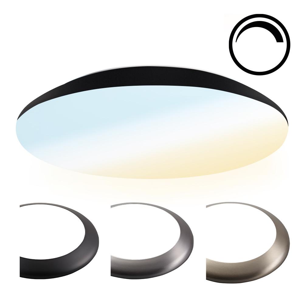 Dimbare LED Plafondlamp/Plafonniere 25W Lichtkleur instelbaar - 2600lm - IK10 - Ø38 cm - Zwart - IP6