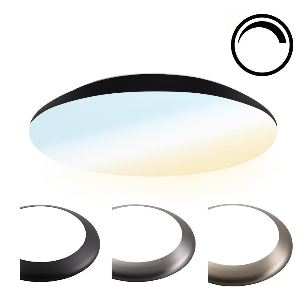 Dimbare LED Plafondlamp/Plafonniere 18W Lichtkleur instelbaar - 1900lm - IK10 - Ø30 cm - Zwart - IP6