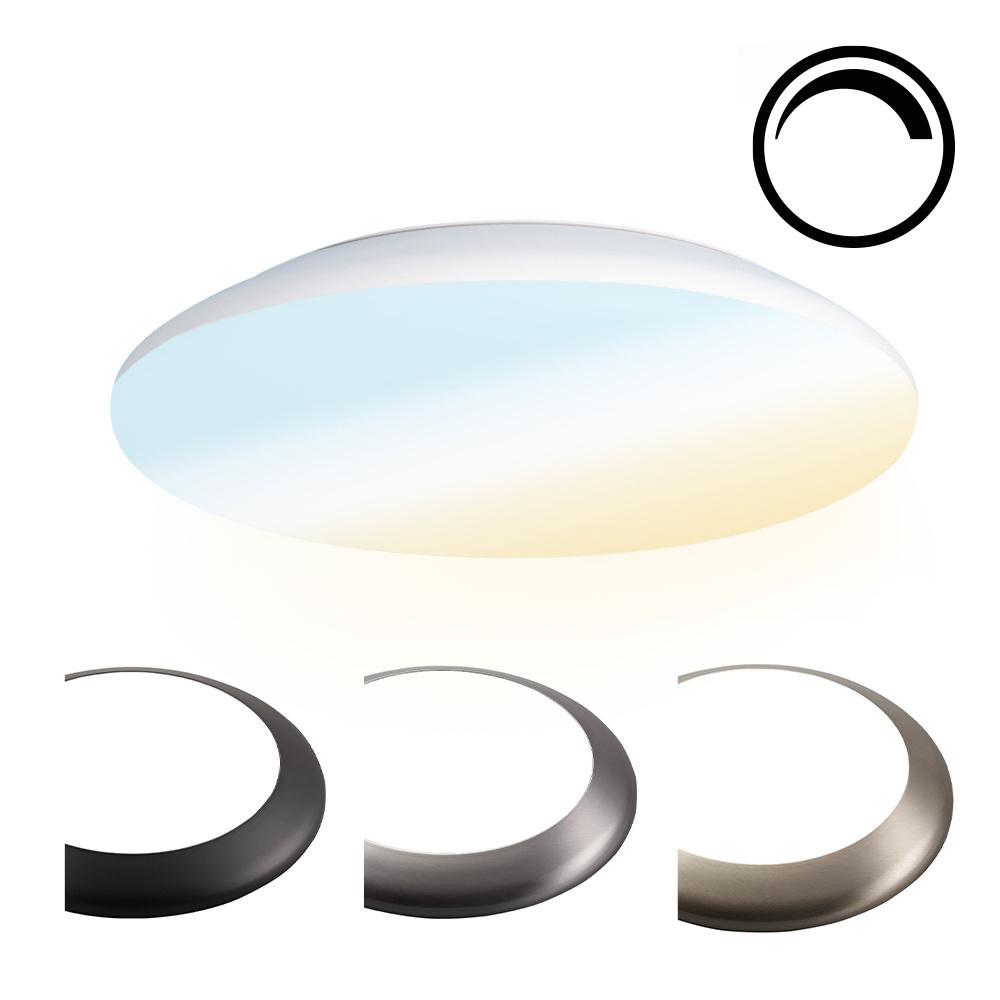 Dimbare LED Plafondlamp/Plafonniere 18W Lichtkleur instelbaar - 1900lm - IK10 - Ø30 cm - Wit - IP65