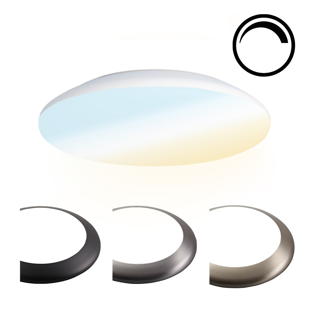 Dimbare LED Plafondlamp/Plafonniere 12W Lichtkleur instelbaar - 1200lm - IK10 - Ø25 cm - Wit - IP65