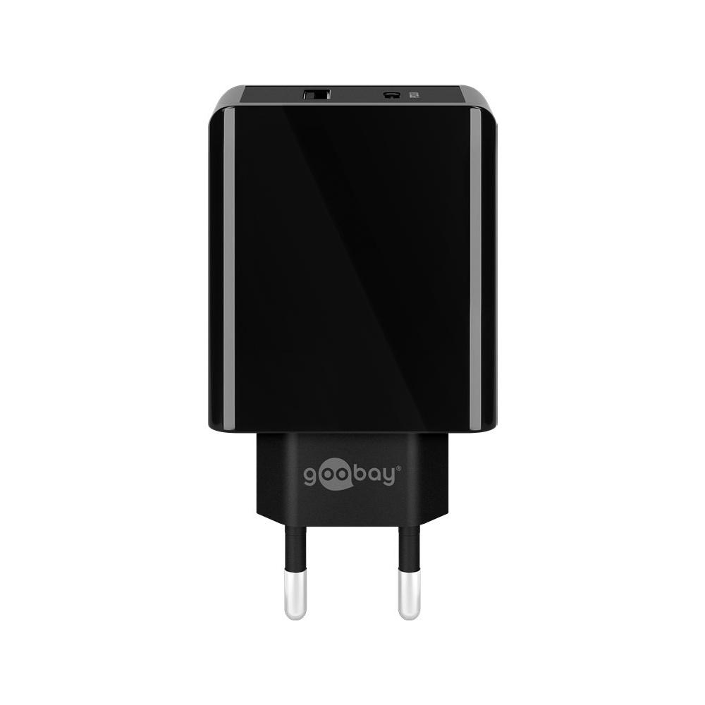 Dual USB-C oplader - USB-A & USB-C poorten - Eurostekker type-C - CEE 7/16 - Dual USB-C oplader - Qu