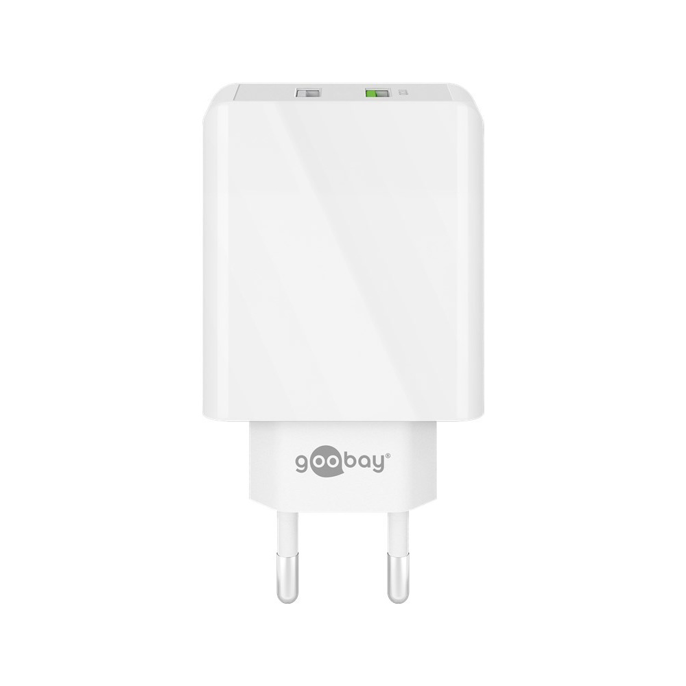 USB-A adapter - USB-A oplader - CEE 7/16 - USB-A adapter - 2 poorts - USB-A & Quick Charge 3.0 - 300