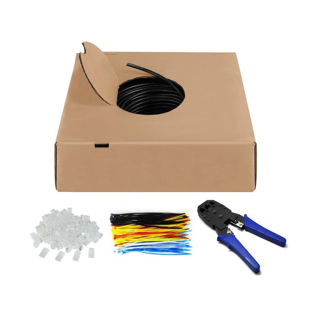 CAT 6 U/UTP buitenkabel op rol - 100 meter - CCA - UTP Kabel - Ethernet kabel - Internetkabel - comp