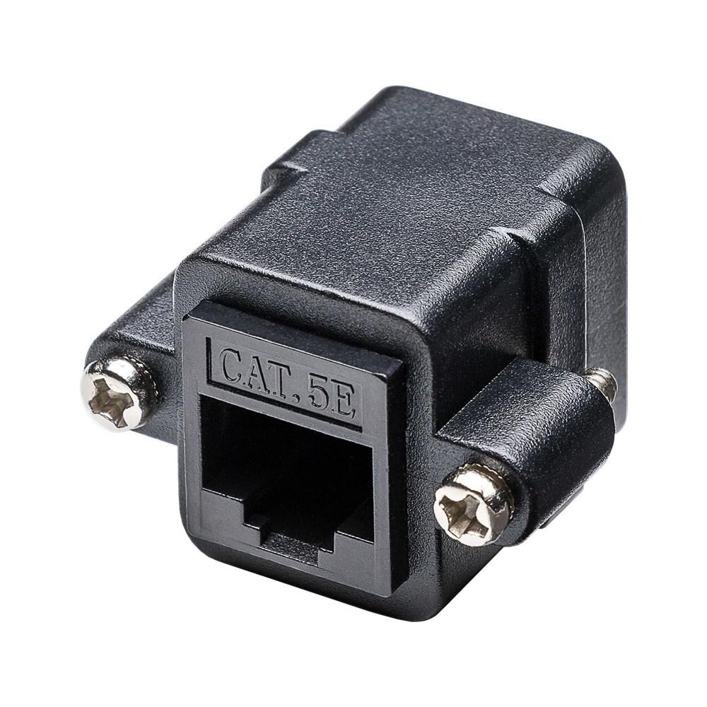 NET CAT6 Netwerkkoppelaar inbouw universeel 1 poorts - UTP - voor CAT6+ internetkabels - ethernet ka