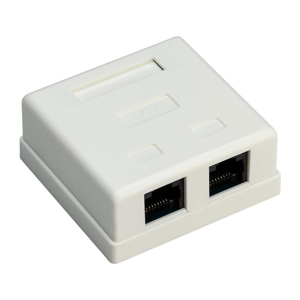 NET CAT6 Netwerkdoos opbouw universeel wit 2 poorts - UTP