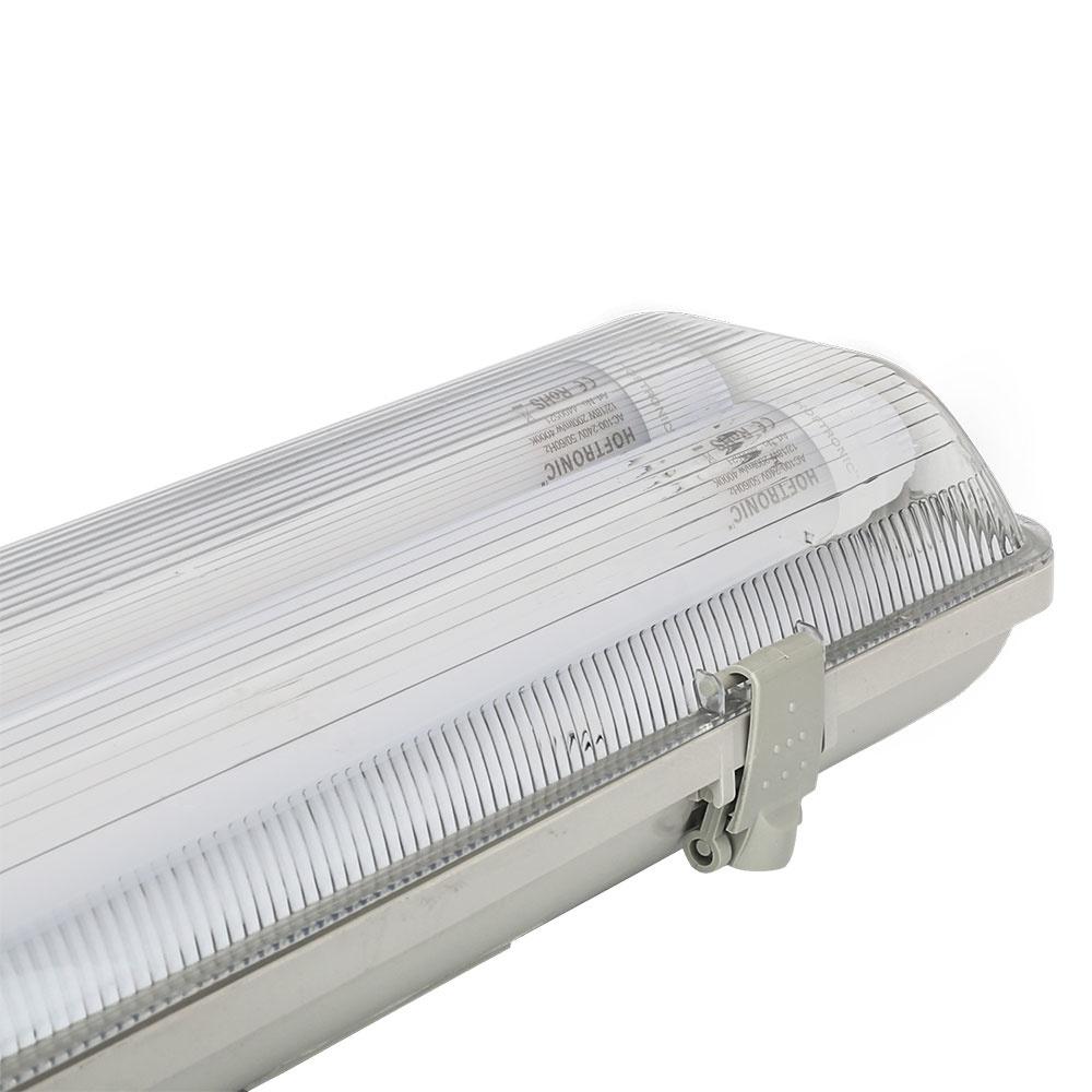 LED TL armatuur - 150 cm - IP65 - 140lm/W - incl. 2x24 Watt T8 LED buizen - 4000K - dubbelvoudige ui