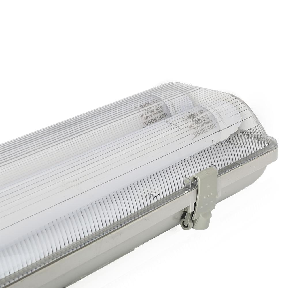 LED TL armatuur - 120 cm - IP65 - 140lm/W - incl. 2x18 Watt T8 LED buizen - 4000K - dubbelvoudige ui