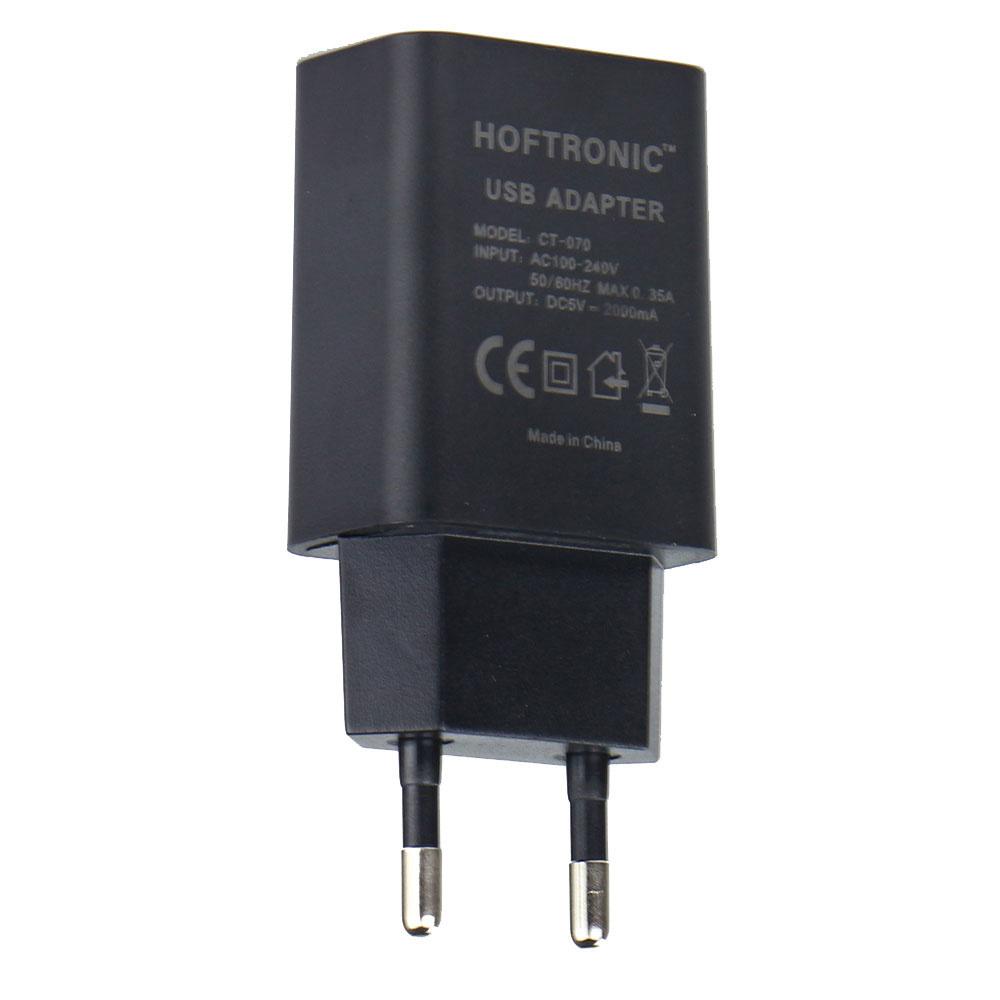 USB-A snellader - 2.000 mA - USB-A adapter