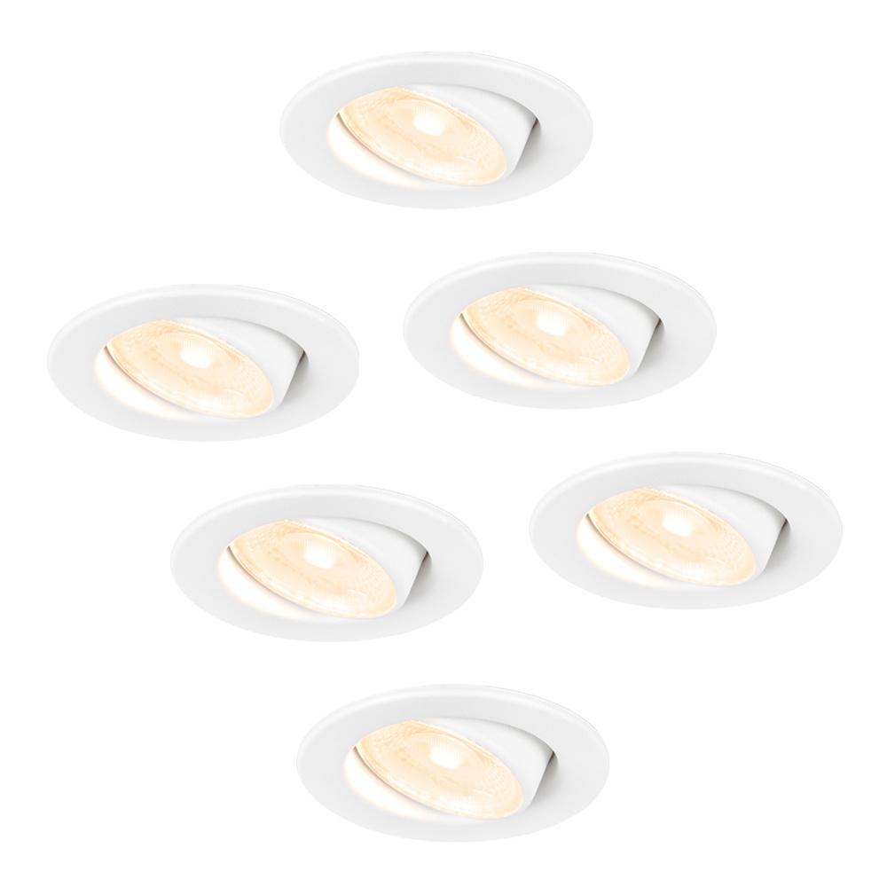 6x Malta - LED inbouwspots - wit - IP44 - 5W - 2700K warm wit - dimbaar - 5 jaar garantie