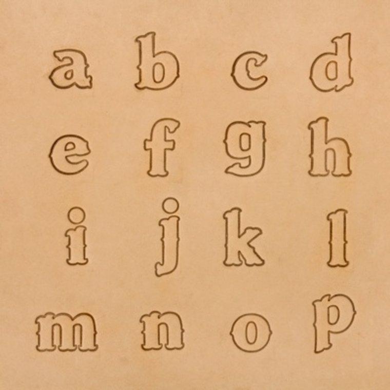 Alfabet set Lowercase 19 mm 8131-02