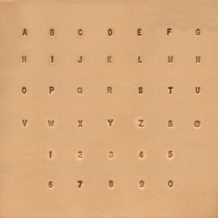 Ivan Leathercraft Alfabet & Nummer & Symbol set 3 mm
