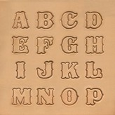 Alfabet set Uppercase 19 mm 8131-00