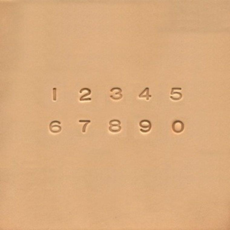 Ivan Leathercraft Cijfer stempelset 6,5 mm