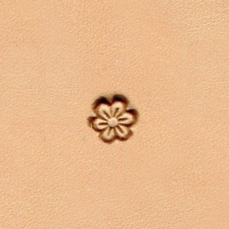 Border figuurstempel bloem