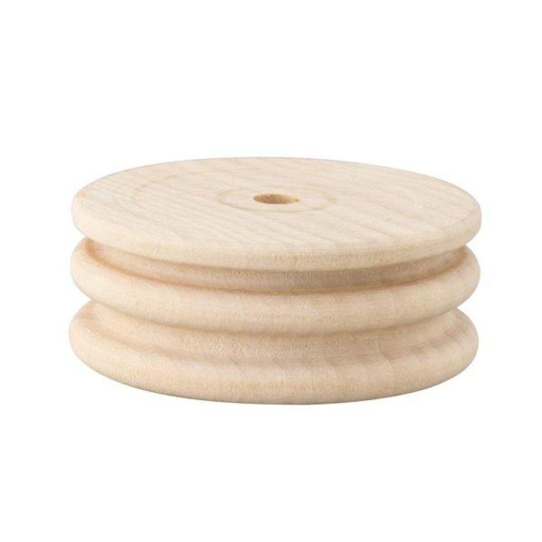 Polijstwiel hout dubbel