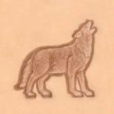 3D Wolf huilend