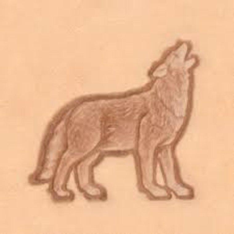 Ivan Leathercraft 3D Wolf huilend