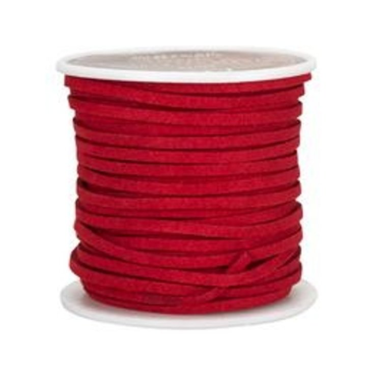 Ivan Leathercraft Vlechtband suedine, rood