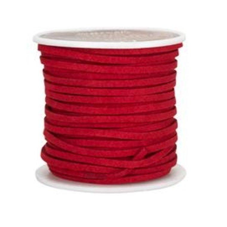 Vlechtband suedine, rood