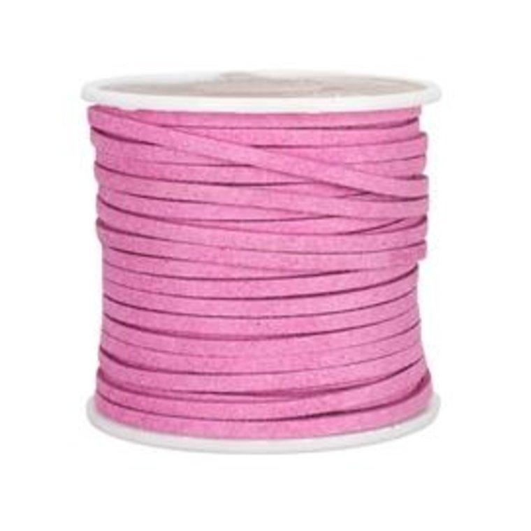 Ivan Leathercraft Vlechtband suedine, roze