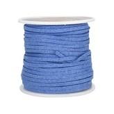 Ivan Leathercraft Vlechtband suedine, blauw