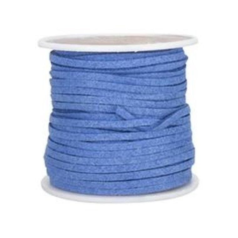 Vlechtband suedine, blauw