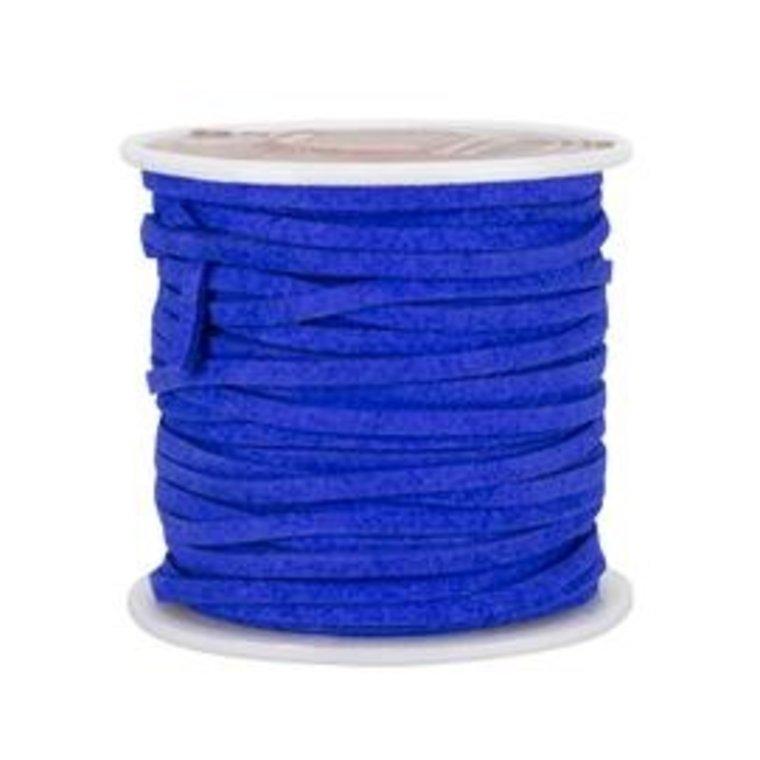 Vlechtband suedine, koningsblauw