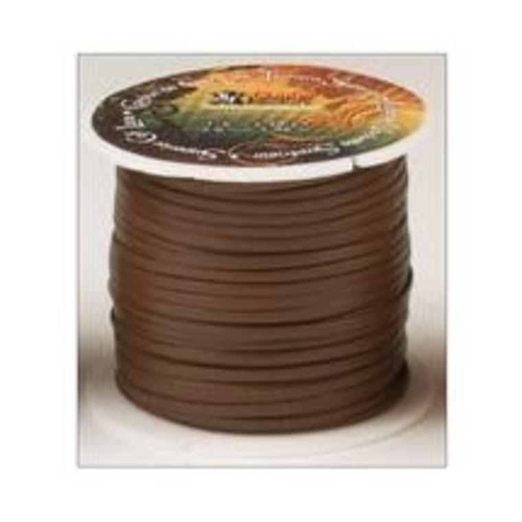 Vlechtband kalfsleder 3 mm, bruin
