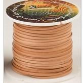 Vlechtband kalfsleder 2,3 mm, naturel
