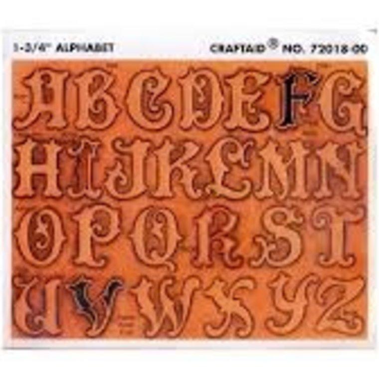 Ivan Leathercraft Sjabloon voor alfabet letters