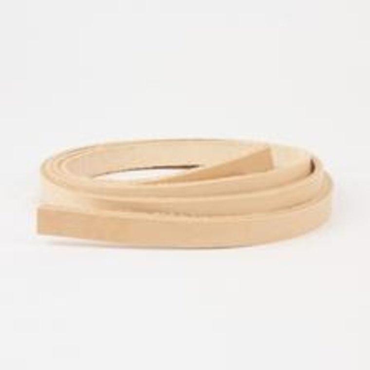 Stroken tuigleer naturel dikte 3 mm