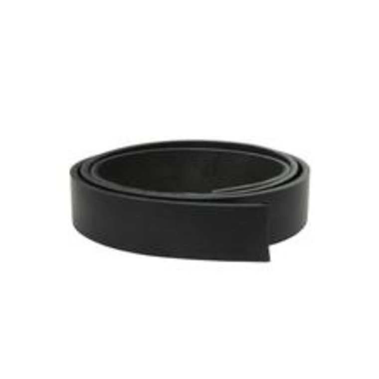 Stroken tuigleer zwart dikte 2,5 mm