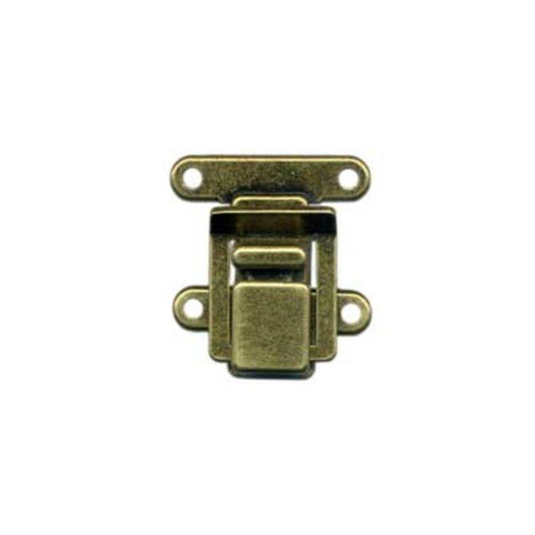 Flip Lock sluiting antiek messing