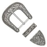 Ivan Leathercraft Gespen set 3 delig, antiek zilver