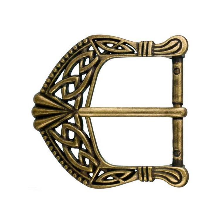 Ivan Leathercraft Keltische gesp 40 mm, antiek messing