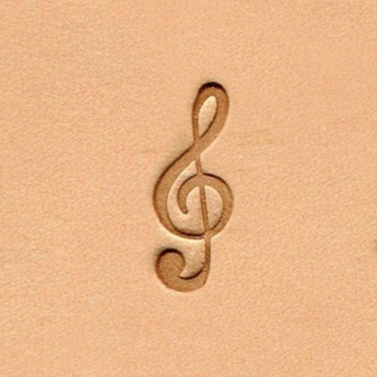Ivan Leathercraft Muzieknoot figuurstempel 7,5 mm x 19,7 mm