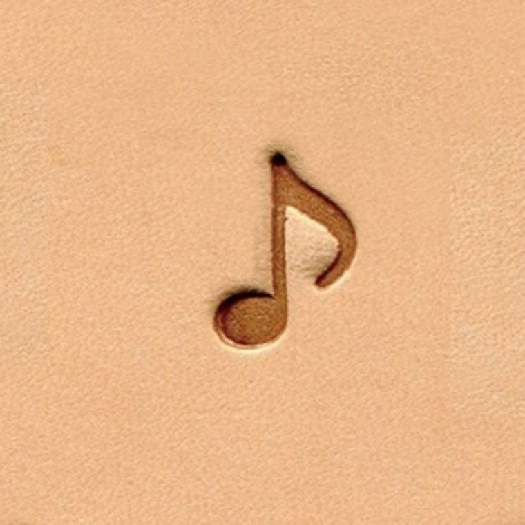 Ivan Leathercraft Muzieknoot figuurstempel 9,3 x 12,8 mm