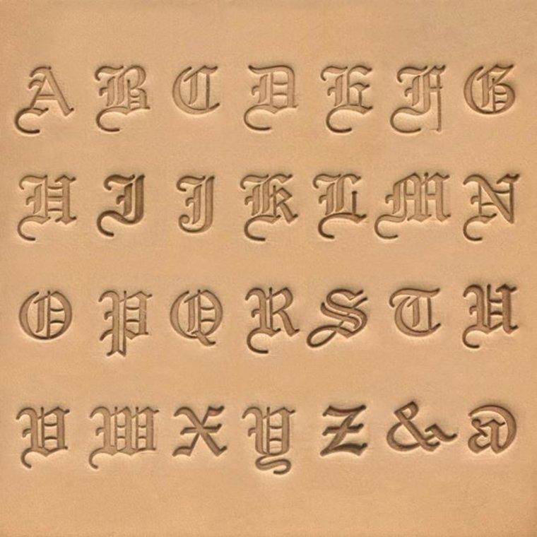 Ivan Leathercraft Alfabet set Old English 19 mm