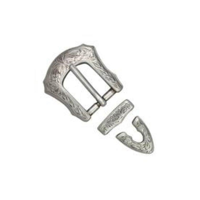 Ivan Leathercraft Gespen set 3 delig, antiek zilver 20mm